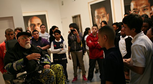 Chuck Close Uses Art to Inspire Students to Academic Success - NYTimes.com